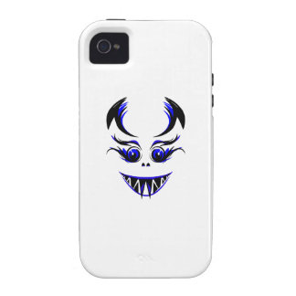 Cara azul asustadiza Case-Mate iPhone 4 carcasas