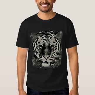 Cara blanca del tigre remeras