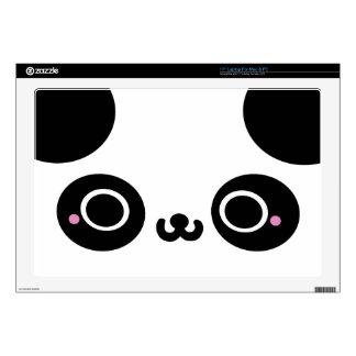Cara blanca negra de la panda de Kawaii Skins Para Portátil