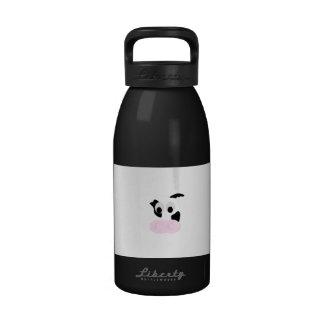 Cara blanco y negro de la vaca lechera o de los botella de agua reutilizable