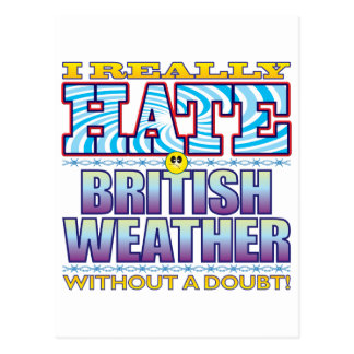 Cara británica del odio del tiempo postales
