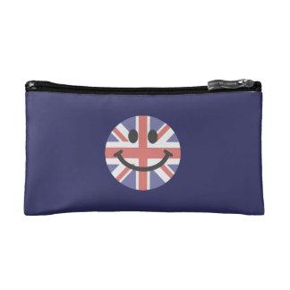 Cara británica del smiley de la bandera