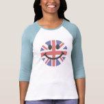 Cara británica del smiley de la bandera camiseta