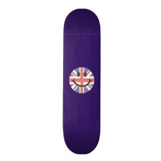 Cara británica del smiley de la bandera tablas de patinar