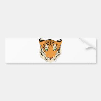 Cara/cabeza del tigre pegatina de parachoque