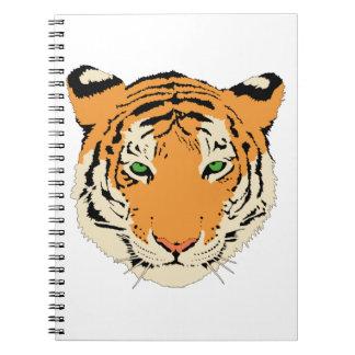 Cara cabeza del tigre cuadernos