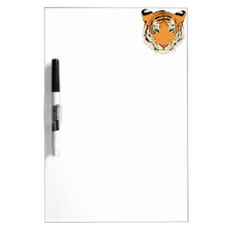 Cara cabeza del tigre pizarras blancas