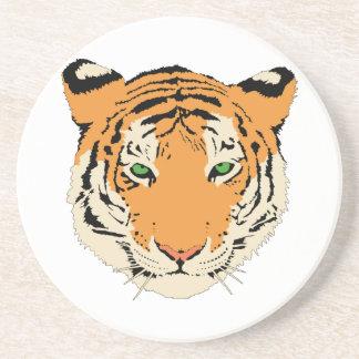 Cara cabeza del tigre posavasos diseño