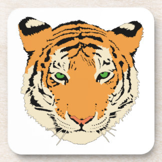 Cara cabeza del tigre posavasos de bebidas