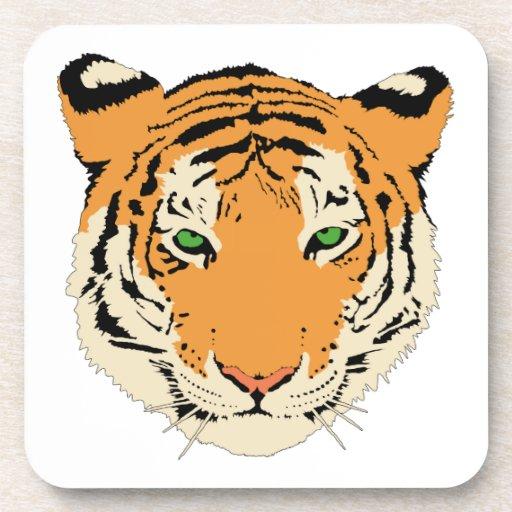 Cara/cabeza del tigre posavasos