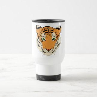 Cara cabeza del tigre tazas