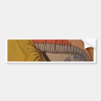 cara pegatina de parachoque