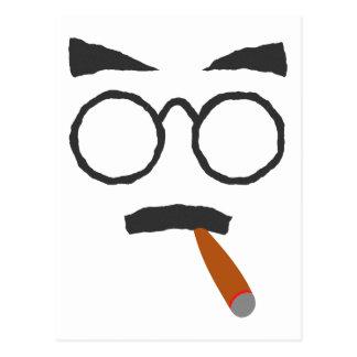 Cara cigarro face cigar tarjeta postal
