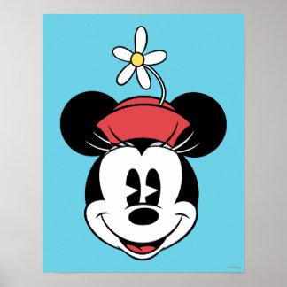 Cara clásica de la flor de Minnie el | Póster