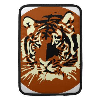 Cara colorida del tigre fundas macbook air