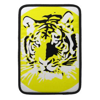 Cara colorida del tigre funda macbook air