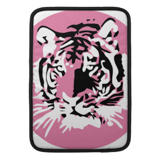 Cara colorida del tigre fundas para macbook air