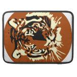 Cara colorida del tigre fundas para macbook pro