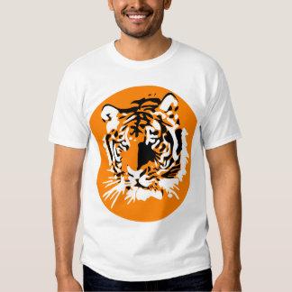 Cara colorida del tigre poleras