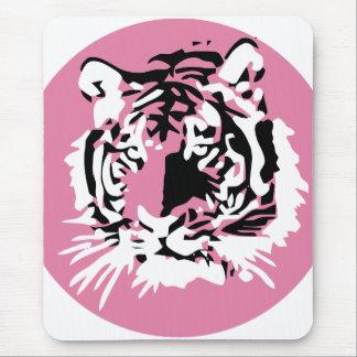 Cara colorida del tigre tapete de ratones