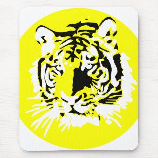 Cara colorida del tigre tapetes de raton