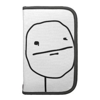 Cara cómica de la cara de póker planificadores