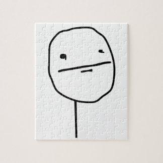 Cara cómica de la cara de póker rompecabeza con fotos