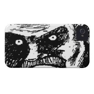 Cara cómica de la mirada fija enojada Case-Mate iPhone 4 fundas