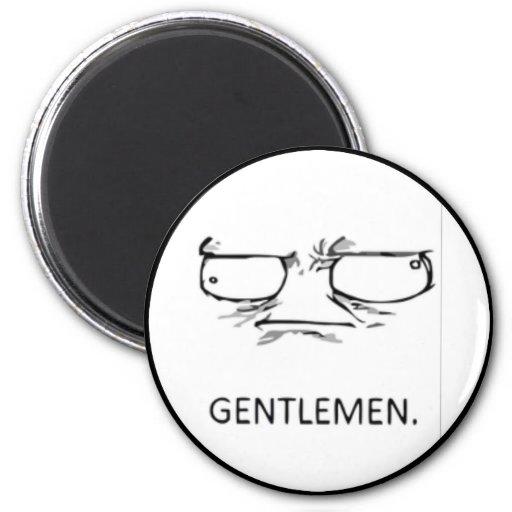 Cara cómica de los caballeros imán para frigorífico
