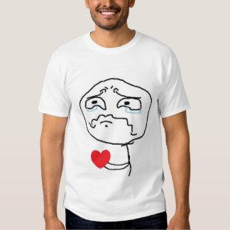 Cara cómica del corazón quebrado remera