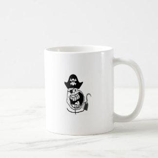 Cara cómica del pirata para siempre solo taza de café