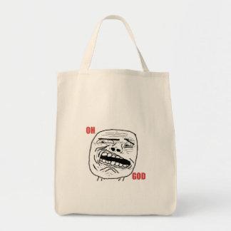 Cara cómica oh de dios Disgusted Bolsa Tela Para La Compra