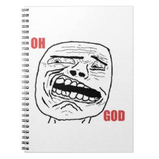 Cara cómica oh de dios Disgusted Cuaderno