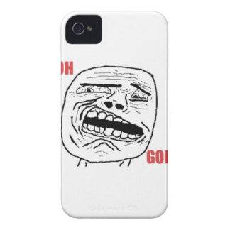 Cara cómica oh de dios Disgusted Case-Mate iPhone 4 Protector