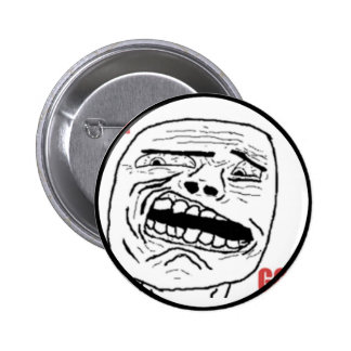 Cara cómica oh de dios Disgusted Pin Redondo 5 Cm