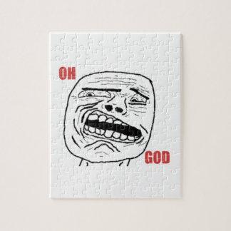Cara cómica oh de dios Disgusted Puzzle Con Fotos