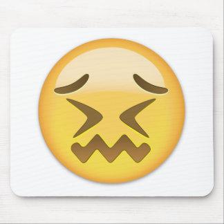 Cara confundida Emoji Mousepad