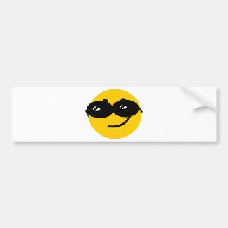 Cara coqueta del smiley de las gafas de sol pegatina de parachoque