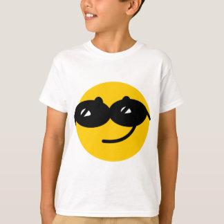 Cara coqueta del smiley de las gafas de sol playera