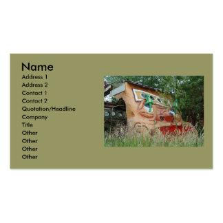 Cara cuadrada tarjetas de visita