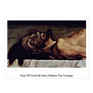 Cara de Cristo de Hans Holbein el más joven Postales