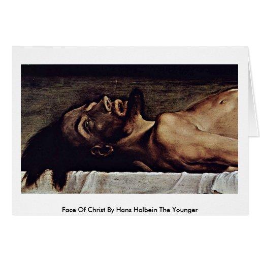 Cara de Cristo de Hans Holbein el más joven Tarjeta