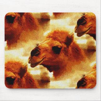 Cara de fascinación del camello tapetes de ratones