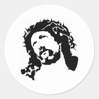 Cara de Jesús Etiqueta