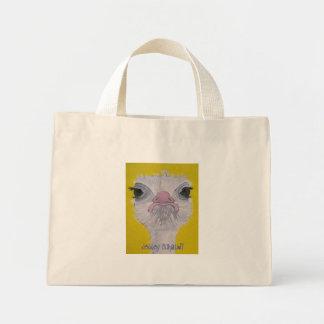 Cara de la avestruz bolsa