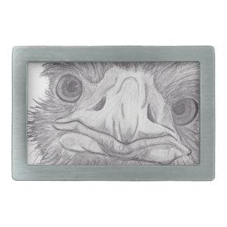 Cara de la avestruz hebilla cinturón rectangular