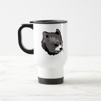 Cara de la bestia taza de viaje