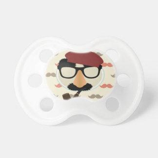 Cara de la boina del tubo de los vidrios del disfr chupetes de bebe