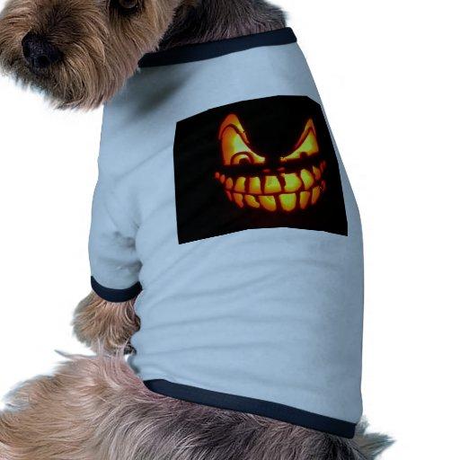 Cara de la calabaza camisa de perrito