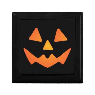 Cara de la calabaza de Halloween Caja De Regalo
